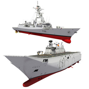 3D spanish naval forces destroyer