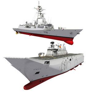 3D spanish naval forces destroyer