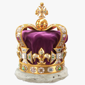 3D st edward crown