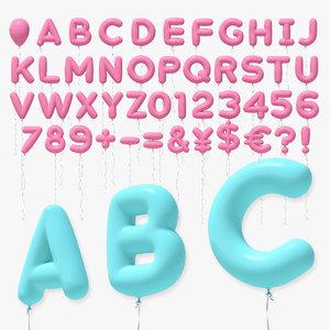3D balloon alphabet ball