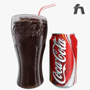 photorealistic coca cola glass 3d max