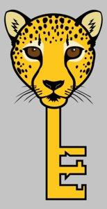 3D leopard key model
