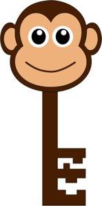3D monkey key model