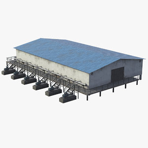 industrial building unit 3D model