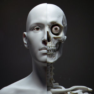 3D model human bust portrait