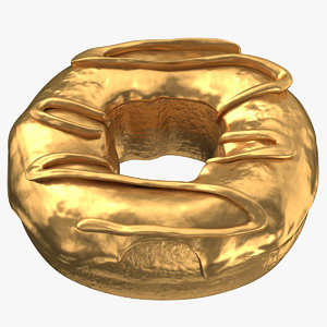 3D donut 05 gold