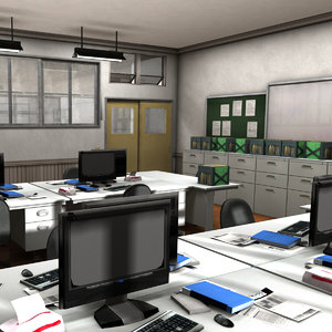 japanese school office 3D model