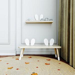 bench shelf 3D model