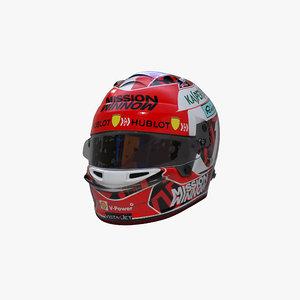 3D leclerc 2020 helmet