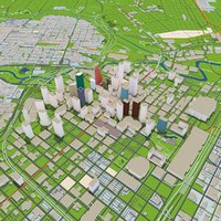 Houston City Texas 3D Model