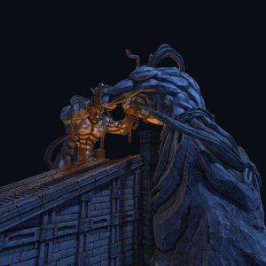 giant gate 3D model