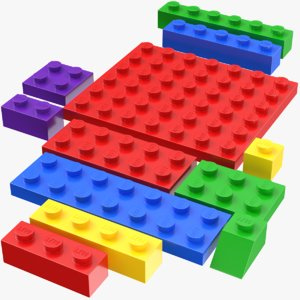 real lego bricks model