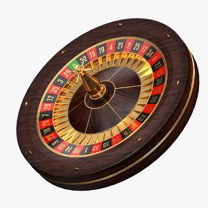 modern roulette wheel games 3D model