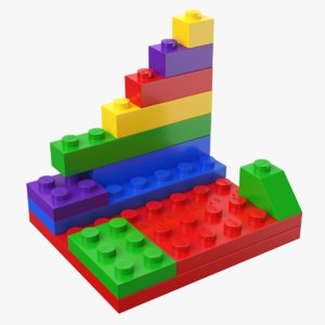 real lego bricks 3D model