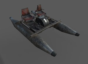 old waterbike pbr 3D