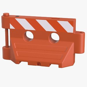 3D plastic barrier red new model