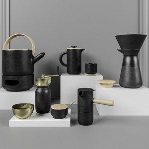 3D stelton coffee set teapot