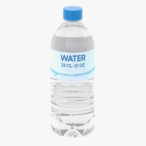 3D water bottle cl model