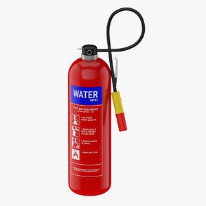 water extinguisher model