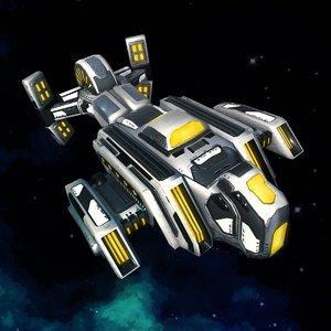 spaceship explorer 3D model