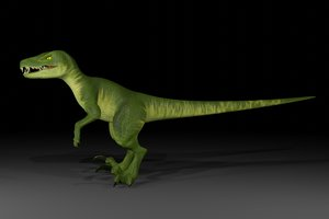 velociraptor animation 3D model