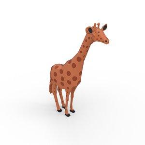 giraffe nature animals 3D model