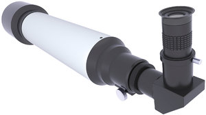 3D telescope refracting scope