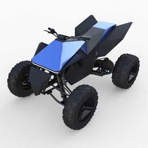 3D tesla cyberquad atv quads model