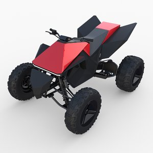 3D model tesla cyberquad atv quads