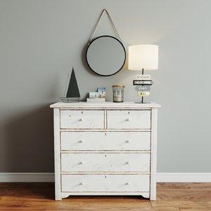 drawer wood model