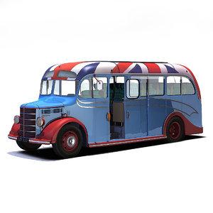 3D vintage bus model