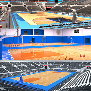 3D basketball arena gym