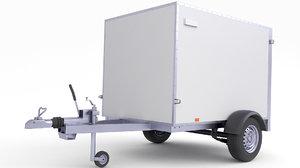 trailer cargo 3D
