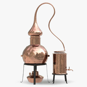 3D model copper alembic stills