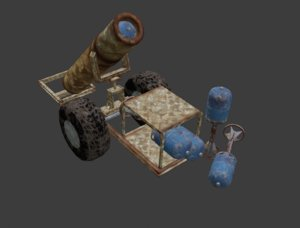 hell cannon 3D model