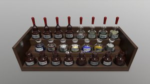 3D pbr laboratory reagents model