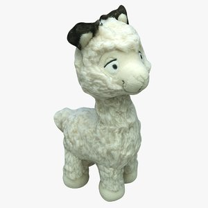 3D plush lama games model