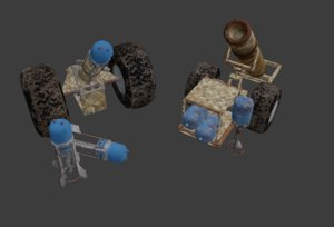3D pack hell cannon weapon