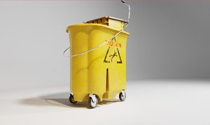 cleaning bucket 4k pbr 3D model