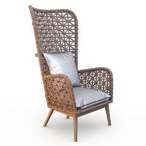 armchair gervasoni inout 630 3D model