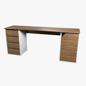 3D desk modeled model