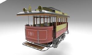 3D tram pbr