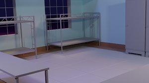 3D model dorm room