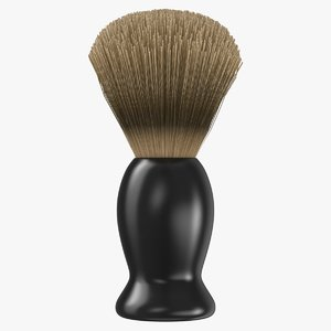 3D men s shaving brush model