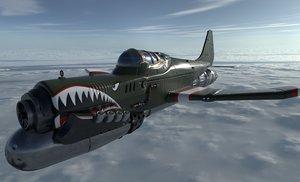 3D airplane pbr