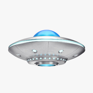 3D cartoon ufo model