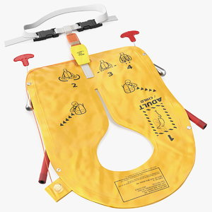 3D airline inflatable life vest