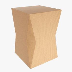 3D packaging box corner model