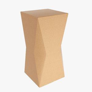 3D packaging beveled box