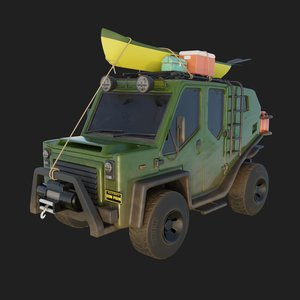 3D adventure vehicle model